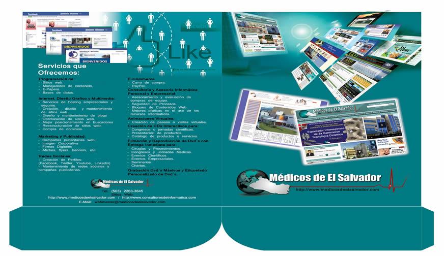 Diseño de folder de médicos de El Salvador