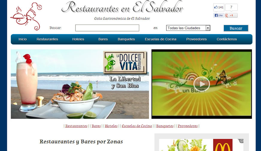 Restaurantes en El Salvador