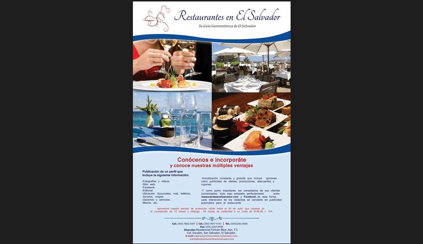 Afiche Restaurantes en El Salvador