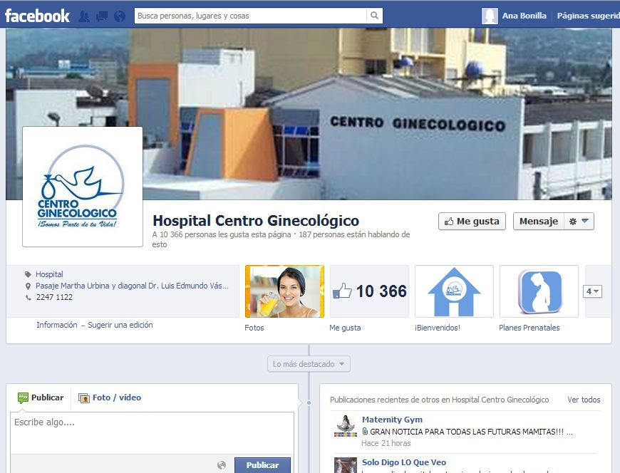 Fan-Page Centro Ginecológico