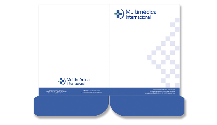 Folder para Multimédica Internacional