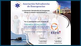 Diploma Asociación Salvadoreña de Emergencias