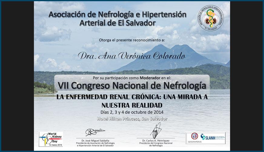 Diploma VII Congreso Nacional de Nefrología
