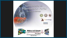 Etiqueta DVD Curso satelital de Hipertensión Portal