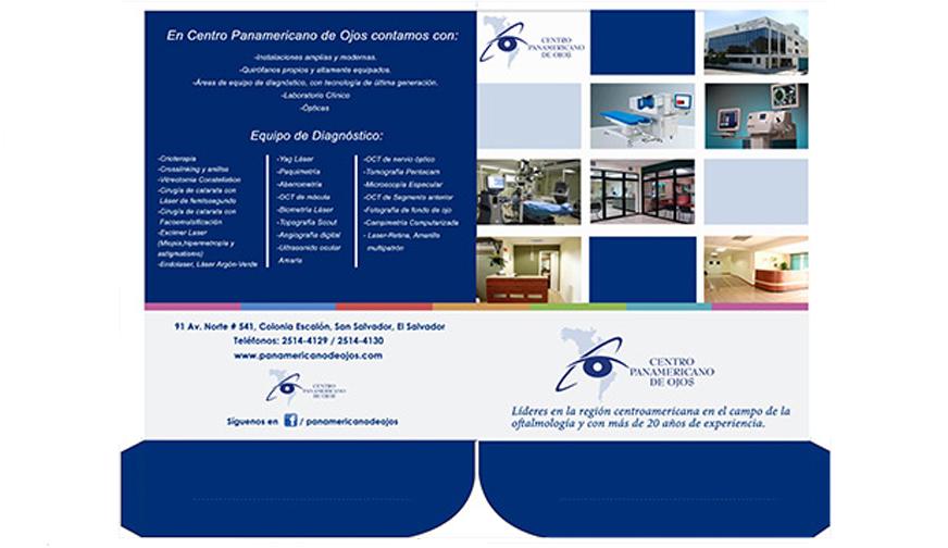 Folder centro panamericano de ojos
