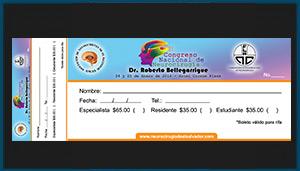 Talonario de pago II Congreso Nacional de Neurocirugía