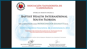 Diploma – XXXV Congreso Nacional de Cardiología 2014