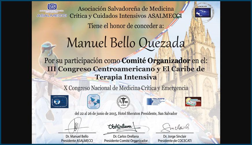 Diploma de Congreso COCECATI 2015