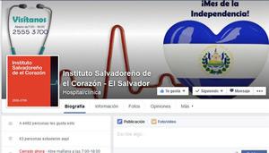 Fan page Instituto Salvadoreño de El Corazón