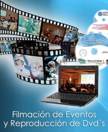 Filmación de eventos y reproducción de DVD´s