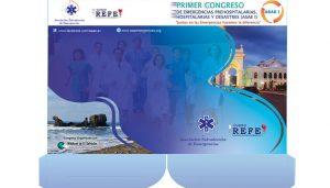 Folder de Primer Congreso de Emergencias Prehospitalarias , Hospitalarias y Desastres ( ASAE I )