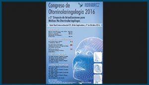 Afiche Congreso Nacional de Otorrinolaringología 2016