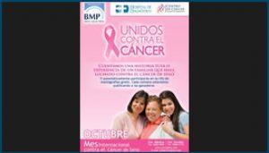 Afiche de Clínica BMP para mes Internacional contra el Cáncer