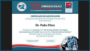 Diploma XIX Intervencionismo Cardiologico