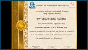 Diploma Congreso de Neurología 2014