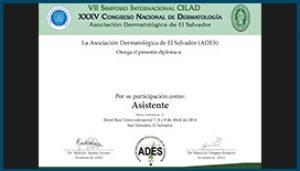 Diploma Congreso de Dermatología 2016
