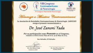 Diploma Especial Congreso de Neurocirugía 2015