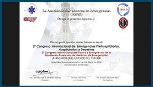 Diploma Congreso Nacional de Emergencias 2016