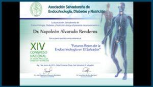 Diploma XIV Congreso Nacional de Endocrinología