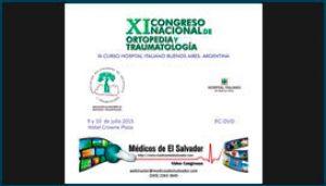 Etiqueta de DVD para el XI Congreso Nacional de Ortopedia y Traumatología
