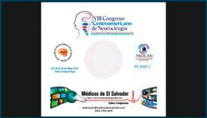 Etiqueta de DVD para el VIII Congreso Centroamericano de Neurocirugía 2015