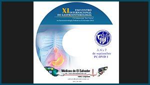 Etiqueta DVD XI Encuentro Internacional de Gastroenterología