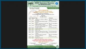 Flyer XXXV Congreso Nacional de Dermatología