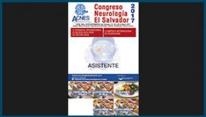 Gafete para el Congreso de Neurología El Salvador 2017