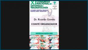 Gafete para el XI Congreso de Ortopedia y Traumatologia