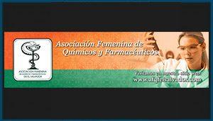 Separador de asociación femenina de quimicas y farmacias