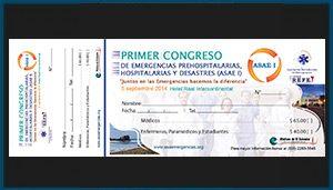 Talonario de pago para Primer Congreso de Emergencias (ASAE I)