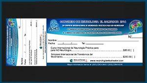 Talonario de pago Congreso de Neurologia El Salvador 2014