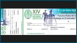 Talonario de pago Congreso Nacional de Endocrinología,Diabetes y Nutricion